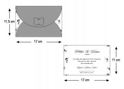 Сватбена покана 2717